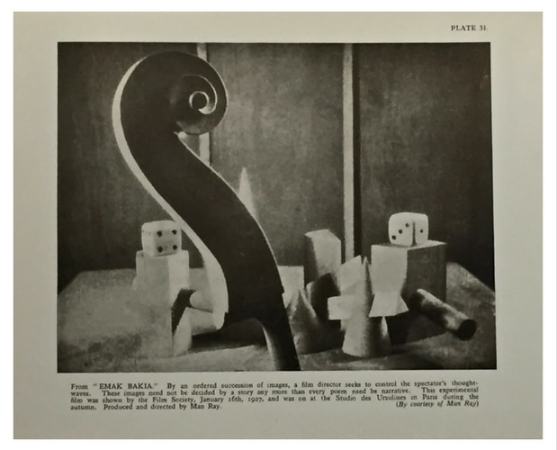 illustration Man Ray from films of the year by robert herring
