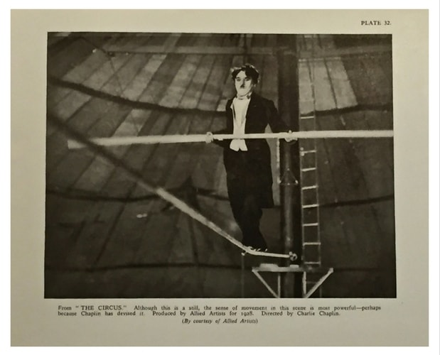 Image from a movie by Charlie Chaplin coming from the book 'Films of the Year 1927-1928'