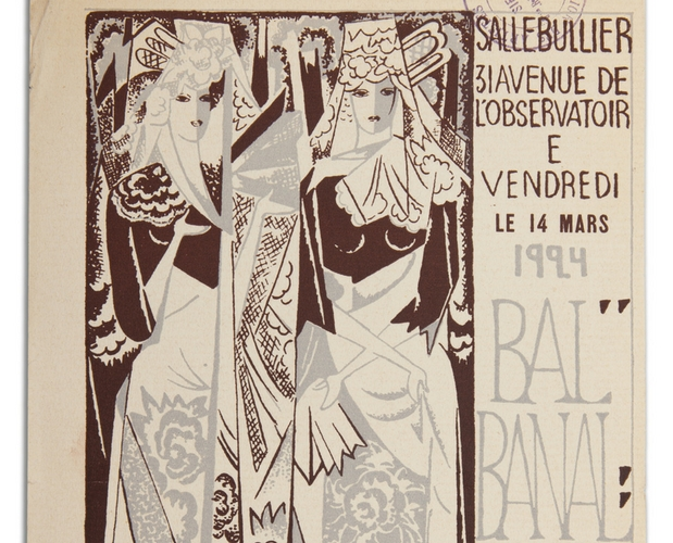 admission ticket to Bal banal by Natalia Gontcharova