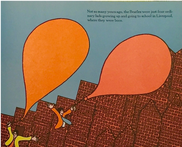 Illustration from We love you Beatles by Margaret Sutton