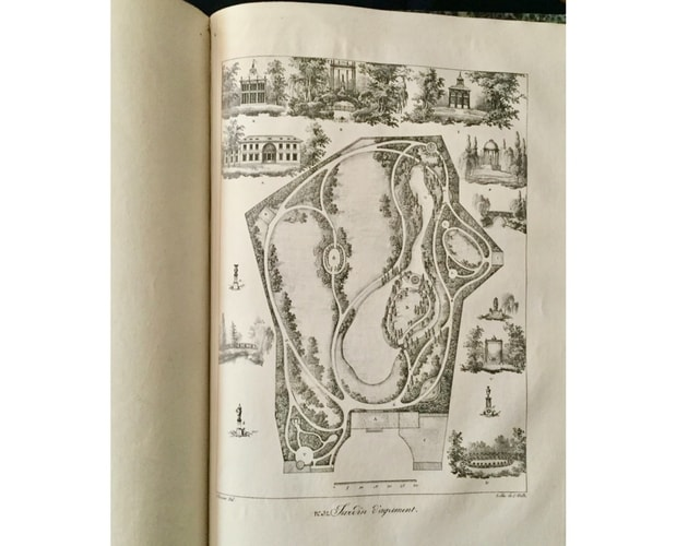 plate of the book by thouin on garden design