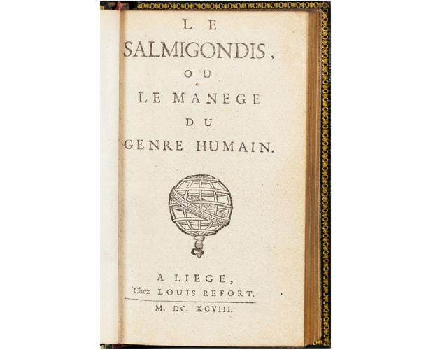 title-page of Le Salmigondis by Beroalde de Verville