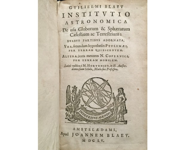 Title-page of Blaeu Institutio Astronomica