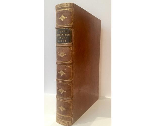binding of Bude Commentarii 1548