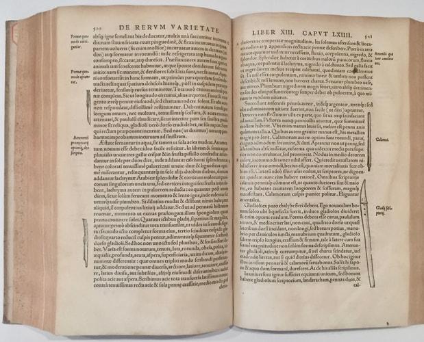 double-page of Cardano De Rerum Varietate
