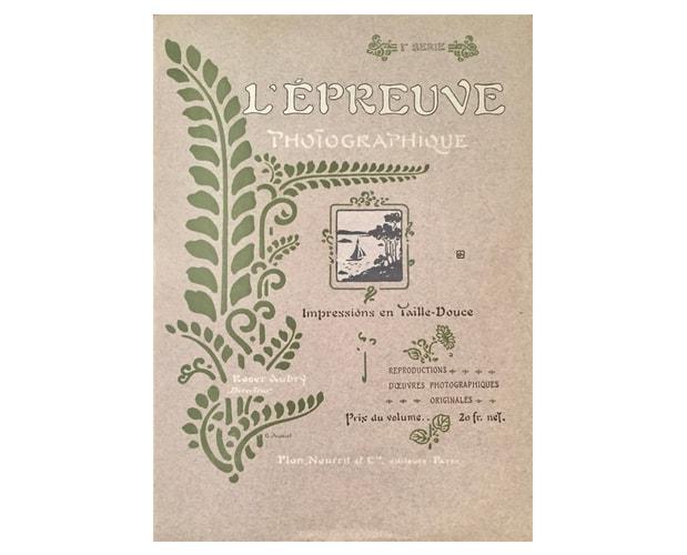 Couverture de Auriol pour L'Epreuve photographique