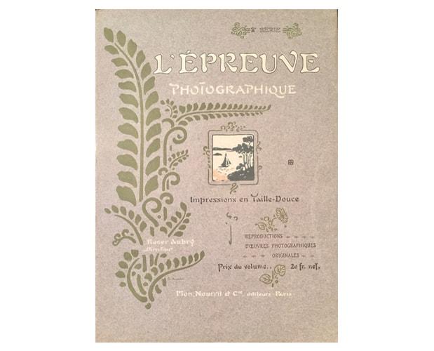 Cover by Auriol for L'Epreuve photographique