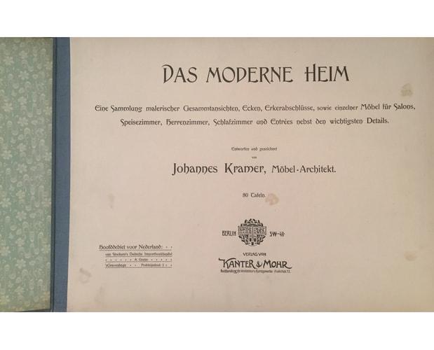 Title-page of Das moderne Heim by Johannes Kramer