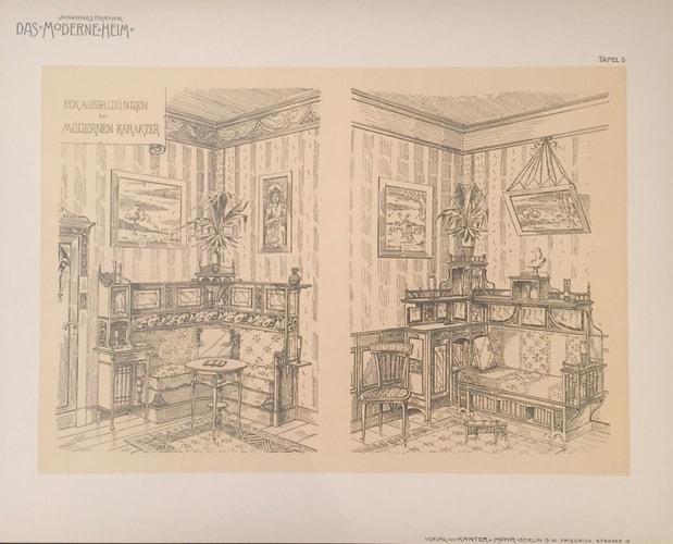 plate of furniture catalogue Das Moderne Heim by Johannes Kramer