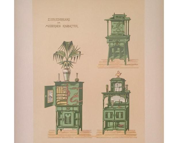 colour plate of furniture catalogue Das Moderne Heim by Johannes Kramer