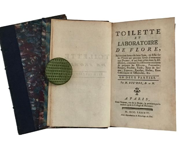 binding and title-page toilette de flore