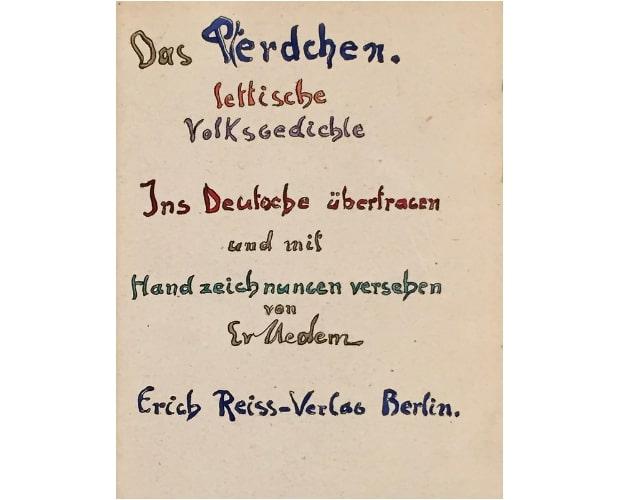 title-page of Das Pferdchen