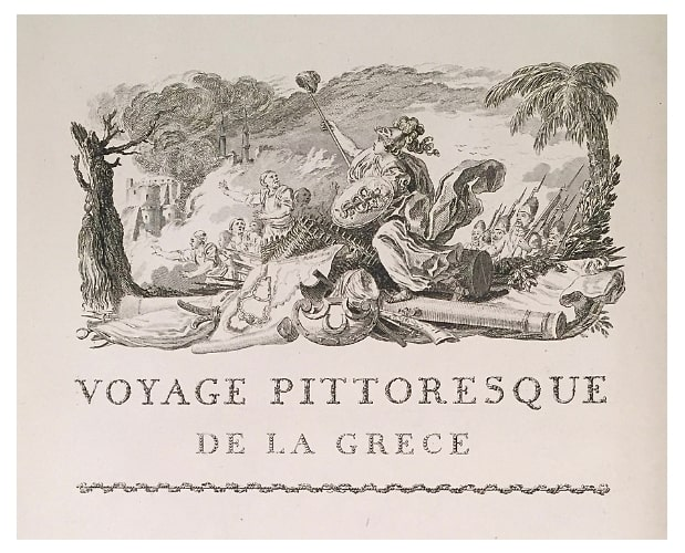 vignette in pure etching from Choiseul-Gouffier Voyage