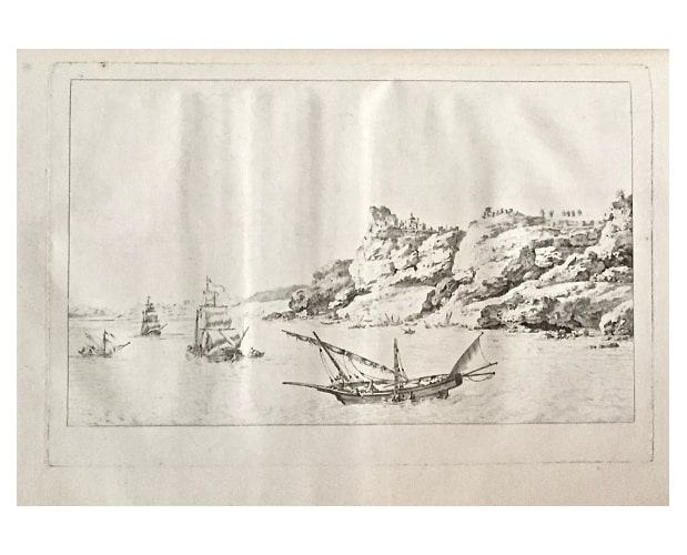 plate in pure etching state from Choiseul-Gouffier Voyage pittoresque