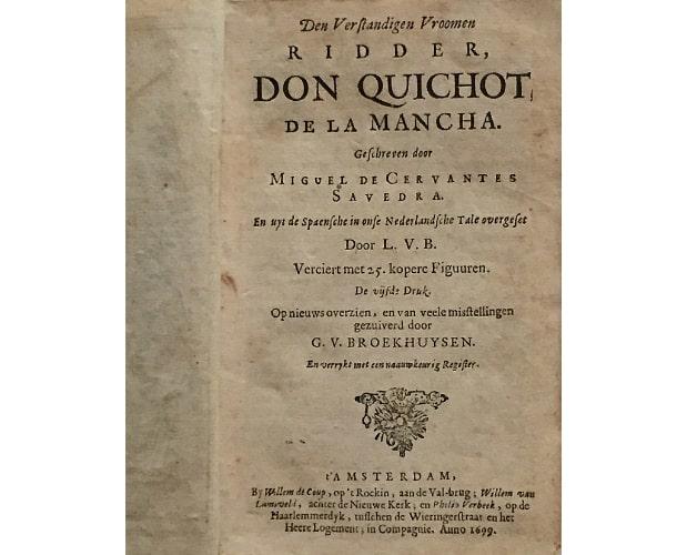 title-page of don quixote by cervantes
