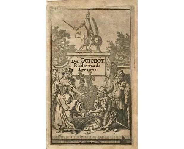 frontispiece of don quixote by cervantes