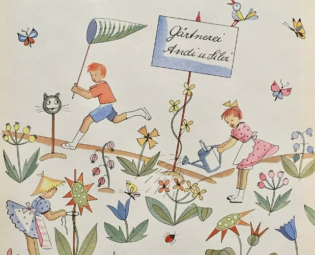 Detail of colour illustration by Else Ruckli-Stoecklin for Andi und Silvi