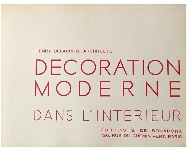 Title-page of Delacroix Décoration moderne