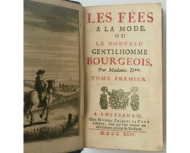 Title-page of Les Fées à la mode by Madame d'Aulnoy