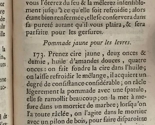 text page of Buchoz Toilette et Laboratoire de Flore