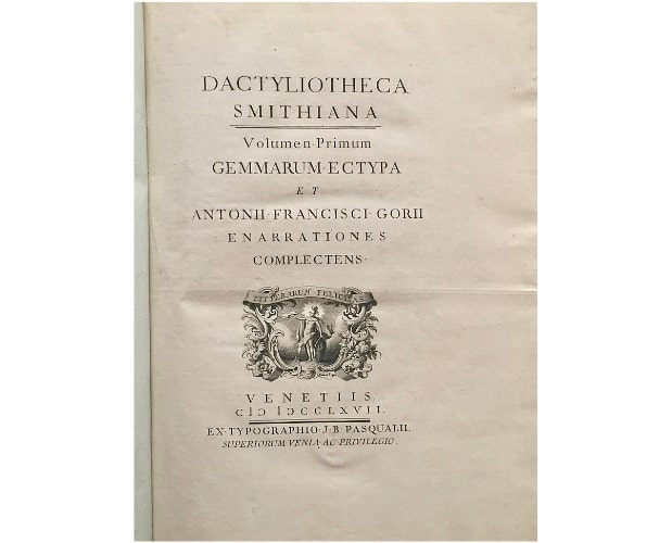 Title-page of Gori Dactyliotheca