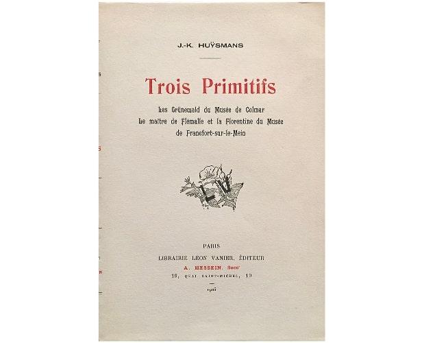 Cover of Huysmans trois Primitifs