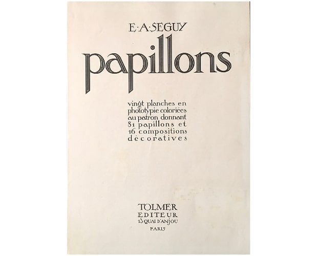 Title-page of Seguy Les Papillons