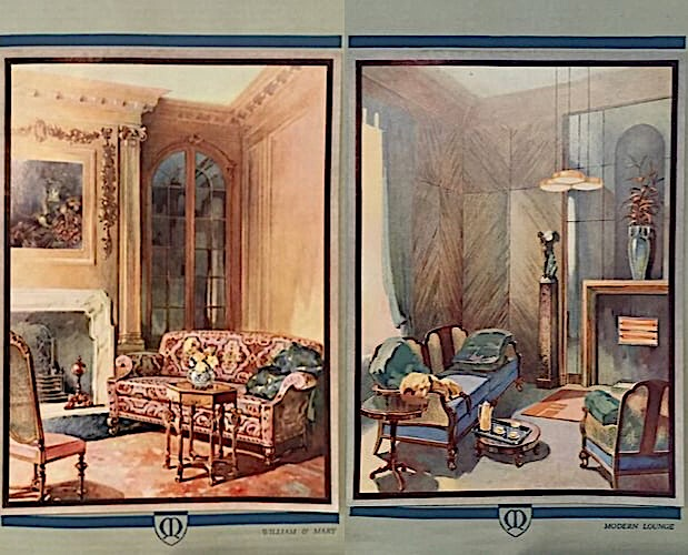 two colour plates from Maples trade catalogue