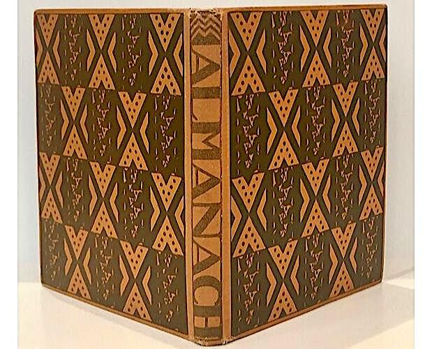 couverture dessinée par Josef Hoffmann pour Almanach Wiener Werkstatte