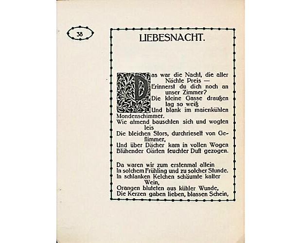 page de texte de Almanach Wiener Werkstatte