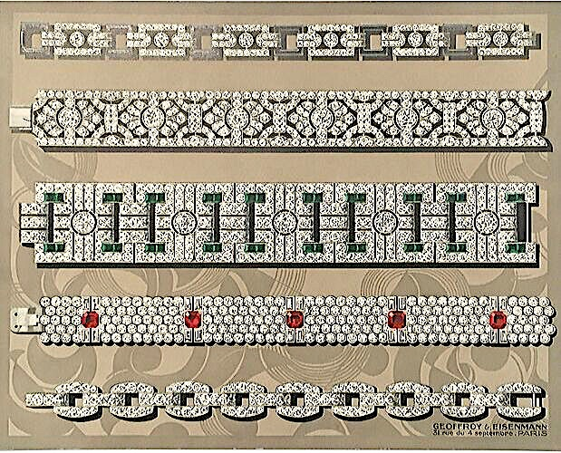 colour plate from trade catalogue by jewellers Geoffroy and Eisenmann