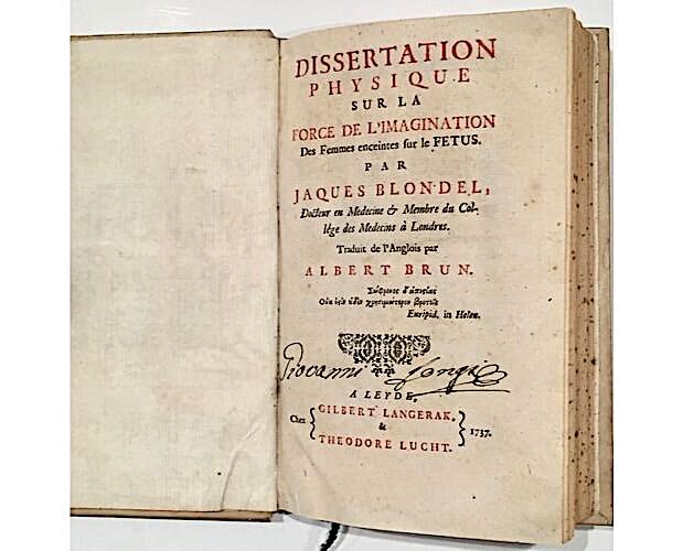 page de titre de Blondel Dissertation