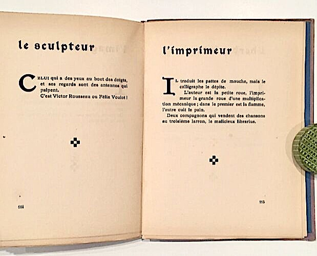double-page of Jean de Boschère Métiers divins