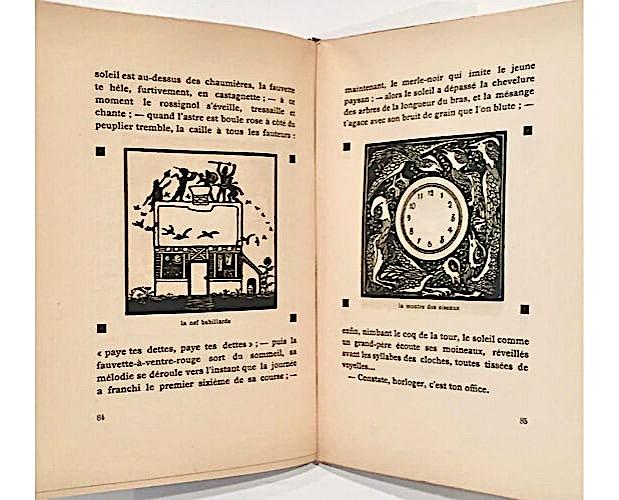 illustrated double-page of Jean de Boschère Métiers divins