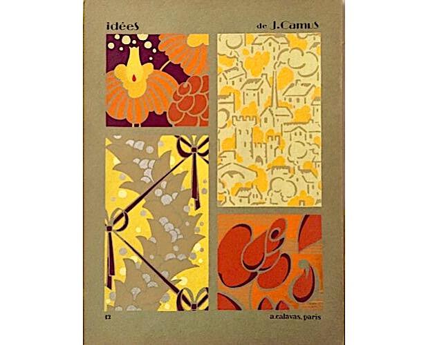 pochoir plate from portfolio Idées by Jacques Camus
