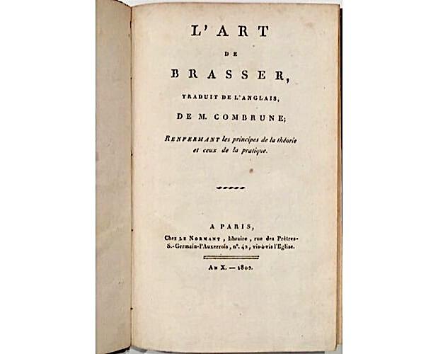 page de titre de Combrune Art de Brasser