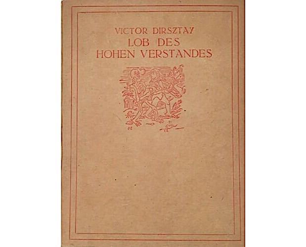 binding of Dirsztay Lob des hohen Verstandes