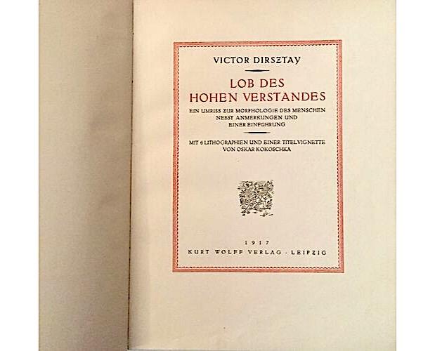title-page of Dirsztay Lob des hohen Verstandes