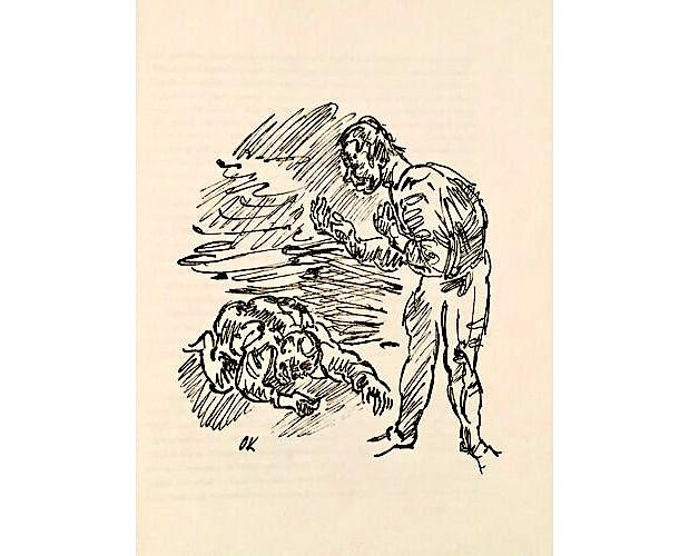 illustration by Kokoschka in Dirsztay Lob des hohen Verstandes