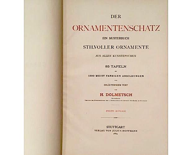 title-page of Dolmetsch Ornamentenschatz