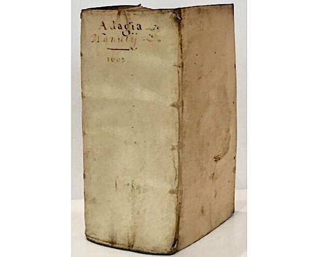 vellum binding of Erasmus Adagia