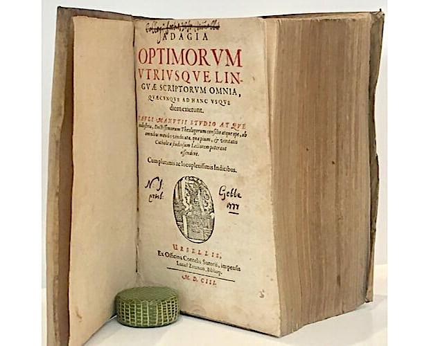 title-page of Erasmus Adagia
