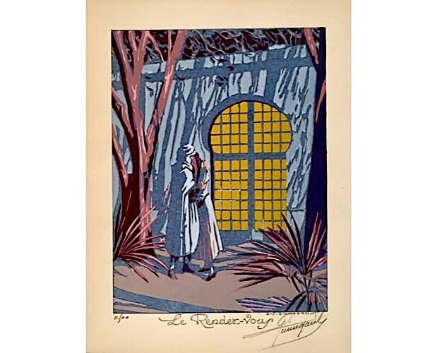 pochoir plate by Guinegault for Quatre impressions arabes