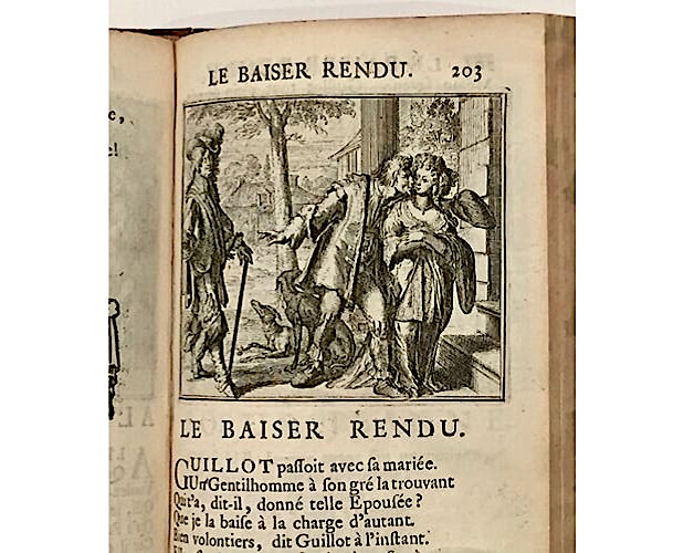 illustration by Romeyn de Hooghe in first illustrated edition of La Fontaine Contes