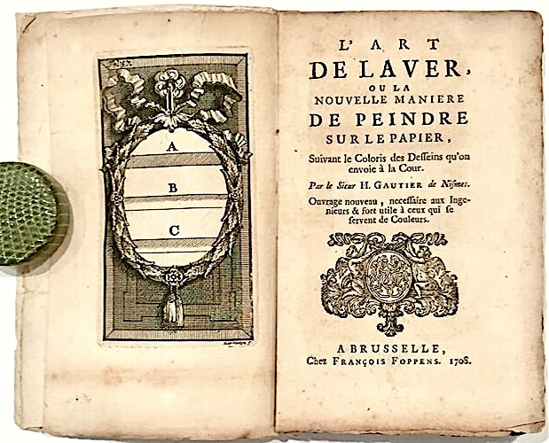 frontispiece and title of Gautier Art de Laver