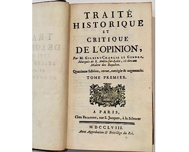 title-page of Legendre Traité de l'opinion