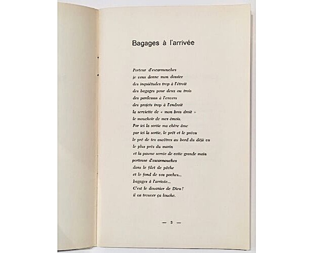 text page of Maret Bagages