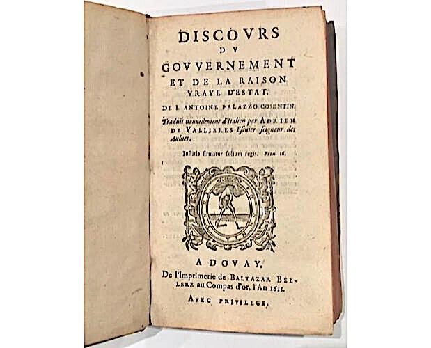 title-page of Palazzo Discours Raison d'Estat