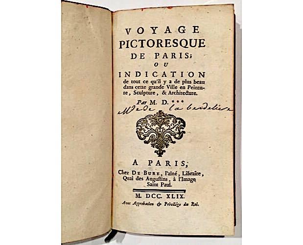 title-page of Voyage pictoresque de Paris