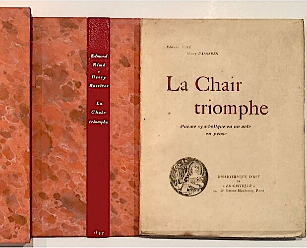 cover and slipcase of La Chair Triomphe by Rimé and Bassères